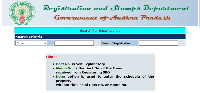 ap encumbrance certificate search online