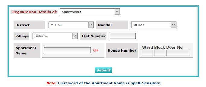 Get details with Apartment no